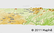 """Physical Panoramic Map of the area around 28°27'45""""S,152°13'29""""E"""