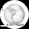 Outline Map of Laguna, rectangular outline