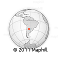 Outline Map of Atamisqui, rectangular outline