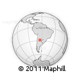 Outline Map of Totora Pampa, rectangular outline