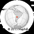 Outline Map of Punua, rectangular outline
