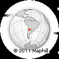 Outline Map of San Pablo, rectangular outline