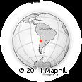 Outline Map of Jagüé, rectangular outline