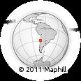 Outline Map of Huasco, rectangular outline