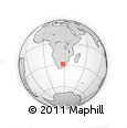 Outline Map of Bloemfontein, rectangular outline