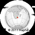Outline Map of Richards Bay, rectangular outline