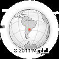 Outline Map of Alvear, rectangular outline