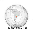 Outline Map of Alfonso Loma, rectangular outline