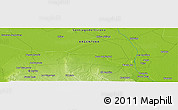 Physical Panoramic Map of Guanaco Sombriana