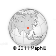 Outline Map of Luocheng, rectangular outline