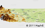 Physical Panoramic Map of Luocheng