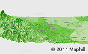 Political Panoramic Map of Luocheng