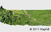Satellite Panoramic Map of Luocheng