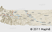Shaded Relief Panoramic Map of Luocheng