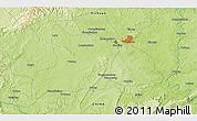 Physical 3D Map of Zigong