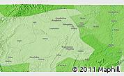 Political 3D Map of Zigong