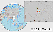Gray Location Map of Zigong