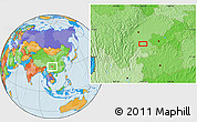 Political Location Map of Zigong