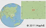 Savanna Style Location Map of Zigong