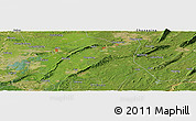 "Satellite Panoramic Map of the area around 29° 16' 6"" N, 105° 28' 29"" E"