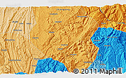 Political 3D Map of Jielong