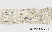 Shaded Relief Panoramic Map of Kaijian