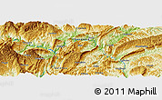 "Physical Panoramic Map of the area around 29° 16' 6"" N, 108° 1' 30"" E"