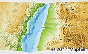 Physical 3D Map of Ţābā