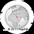 Outline Map of Ţābā, rectangular outline