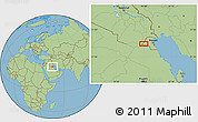 "Savanna Style Location Map of the area around 29°16'6""N,46°49'30""E"