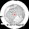 Outline Map of Khawr Nāj, rectangular outline