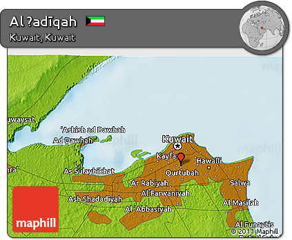 Physical 3D Map of Al Ḩadīqah