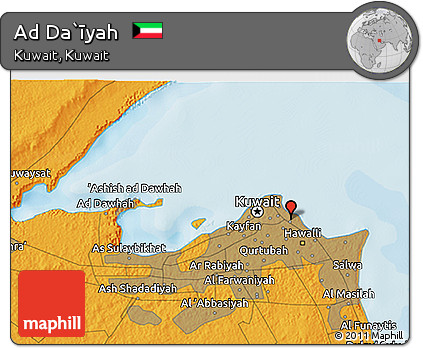 Political 3D Map of Ad Da`īyah