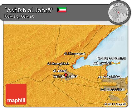 Free Political 3D Map of Ashsh Al Jahr