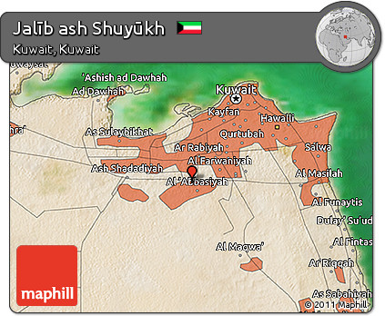 Satellite 3D Map of Jalīb Ash Shuyūkh