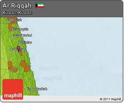 Physical 3D Map of Ar Riqqah