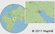 Savanna Style Location Map of Al Funayţīs