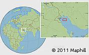 "Savanna Style Location Map of the area around 29°16'6""N,49°22'30""E"