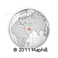"""Outline Map of the Area around 29° 16' 6"""" N, 49° 22' 30"""" E, rectangular outline"""