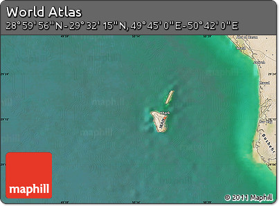 "Satellite Map of the Area around 29°16'6""N,50°13'30""E"