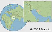"Savanna Style Location Map of the area around 29°16'6""N,51°4'30""E"