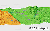 """Political Panoramic Map of the area around 29°16'6""""N,51°55'29""""E"""