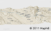 "Shaded Relief Panoramic Map of the area around 29° 16' 6"" N, 51° 55' 29"" E"