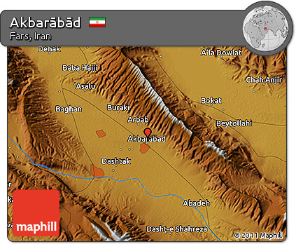 Physical 3D Map of Akbarābād