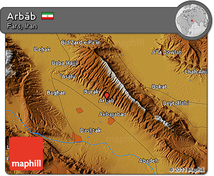 Physical 3D Map of Arbāb