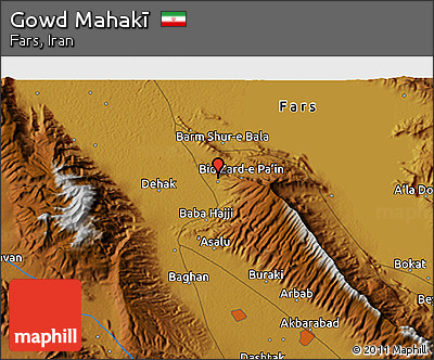 Physical 3D Map of Gowd Mahakī
