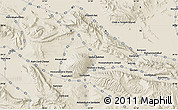 """Shaded Relief Map of the area around 29°16'6""""N,53°37'30""""E"""