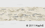 "Shaded Relief Panoramic Map of the area around 29° 16' 6"" N, 53° 37' 30"" E"