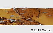 Physical Panoramic Map of Neyrīz