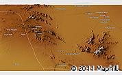 Physical 3D Map of Sīrjān